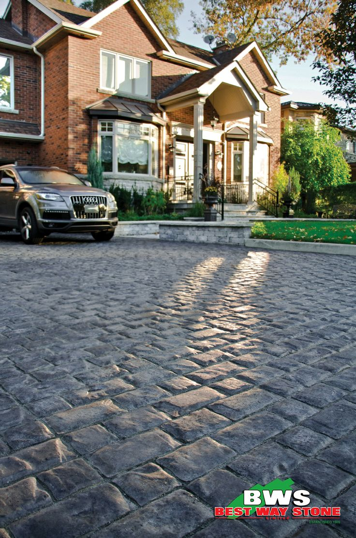 Best Stone For Steps: Best Way Stone > Paver: Corso (Ultra Black). #outdoor