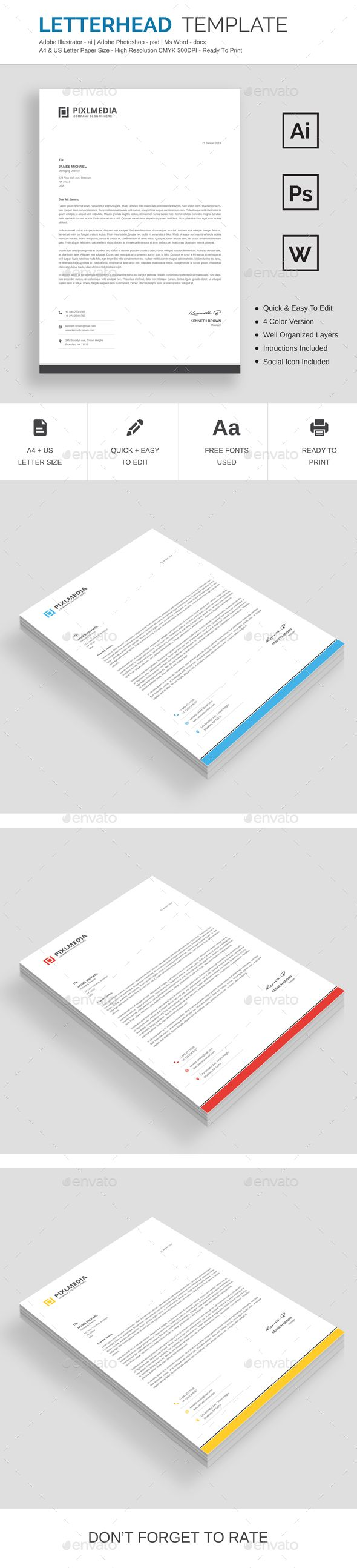 letterhead stationary examples