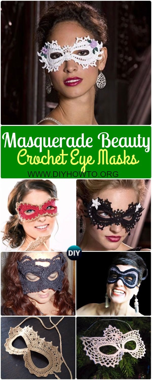 Collection Of Masquerade Beauty Crochet Eye Mask Patterns Free And