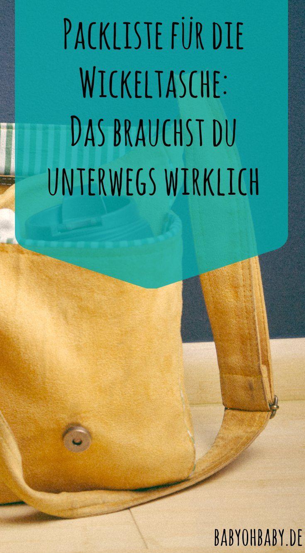 Was gehört unbedingt in deine Wickeltasche und worauf kannst du getrost verzichten? Klicke auf das Bild, um zu meiner ultimativen Liste zu kommen!