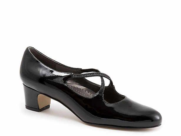 Women S Black Low Heel 1 2 Dress Pumps Sandals Dsw Black Heels Low Heels Shopping Trotters Shoes