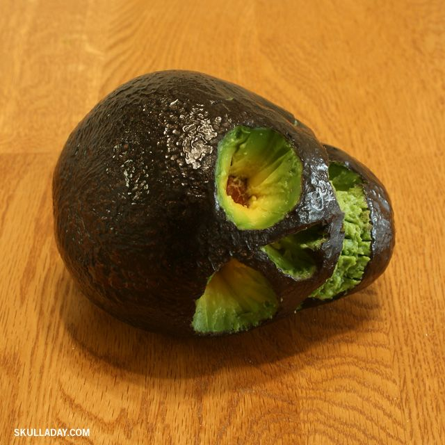 179. Avocado Skull  Creepy, but good if you are having a Halloween Creepy, Nasty Party