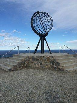 Nordkapp, Escultura, Noruega, Cielo