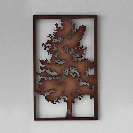 'Rustic Tree' Metal Wall Art