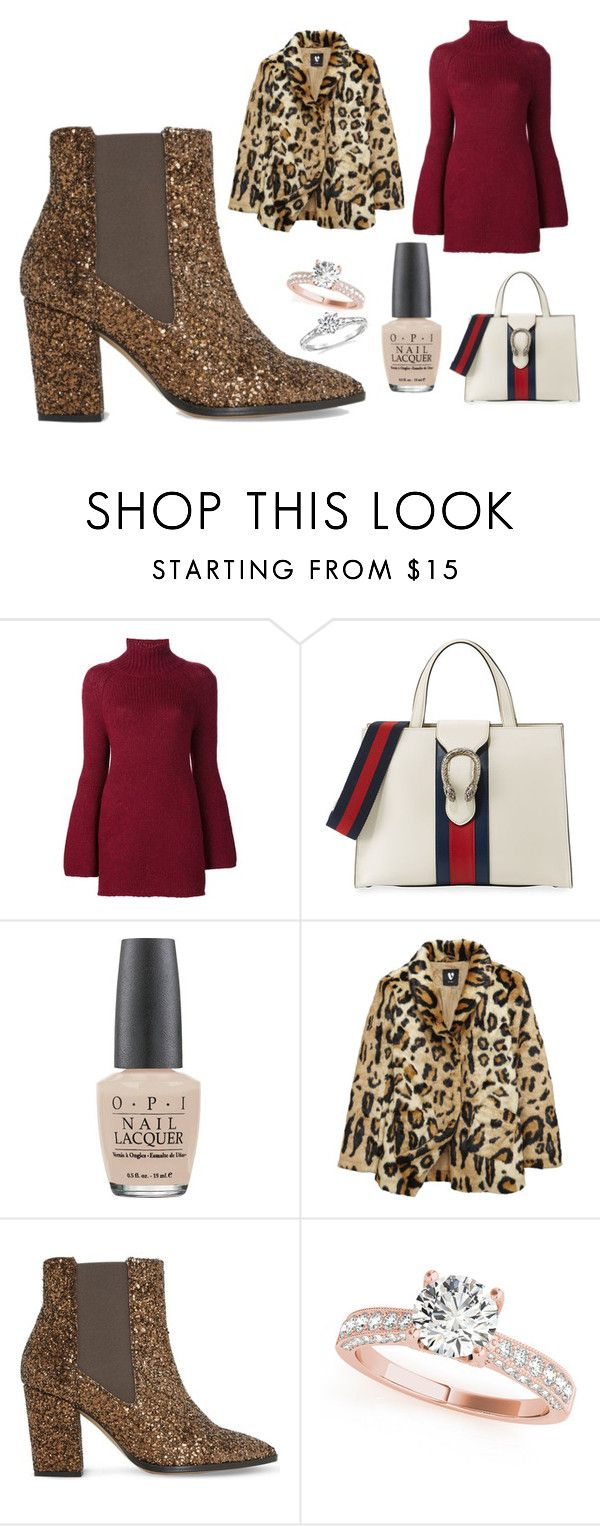 """""""currently"""" by skybluepatricia on Polyvore featuring Rosetta Getty, Gucci, OPI and Dune"""