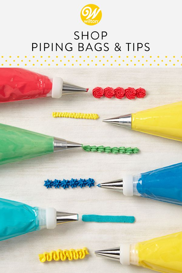 If You Want To Decorate Like A Pro You Need These Piping And Pastry Bags Wilton Carries A Variety Of Pastr Cake Decorating Icing Cake Decorating Piping Icing