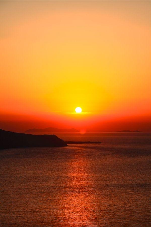 Sunset watching, Santorini, Greece