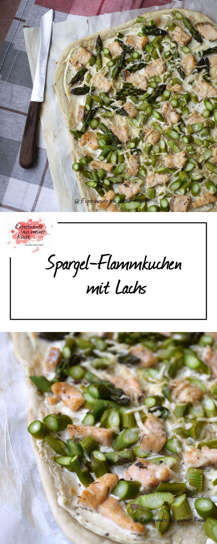 Experimente aus meiner Küche: Spargel-Flammkuchen mit Lachs