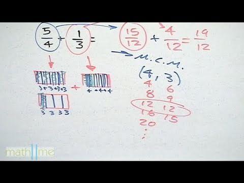 Suma y resta de fracciones con diferente denominador (convertir fracciones) -HD - YouTube