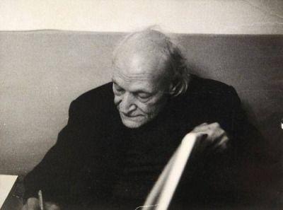 Giuseppe Ungaretti, 1969-by Mario Dondero