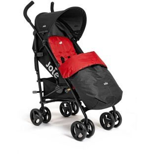 Joie Nitro Pushchair With Footmuff Black And Red