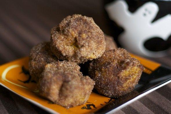 baked vegan pumpkin donut holes (spelt flour) - recipe