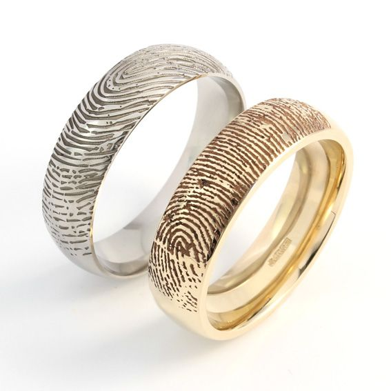 Fabulous fingerprint wedding bands white gold Uniqueness of Fingerprint
