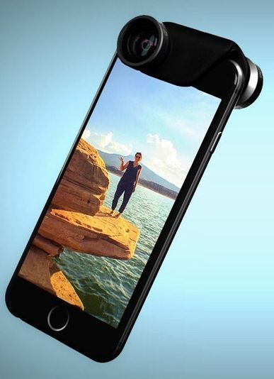 Olloclip went back to the drawing board and cooked up a photo add-on lens for both new iPhones. It even augments selfies. #iPhone7 #iPhone7plus #iPhone8 #iPhone8plus #iPhonex #gadgets