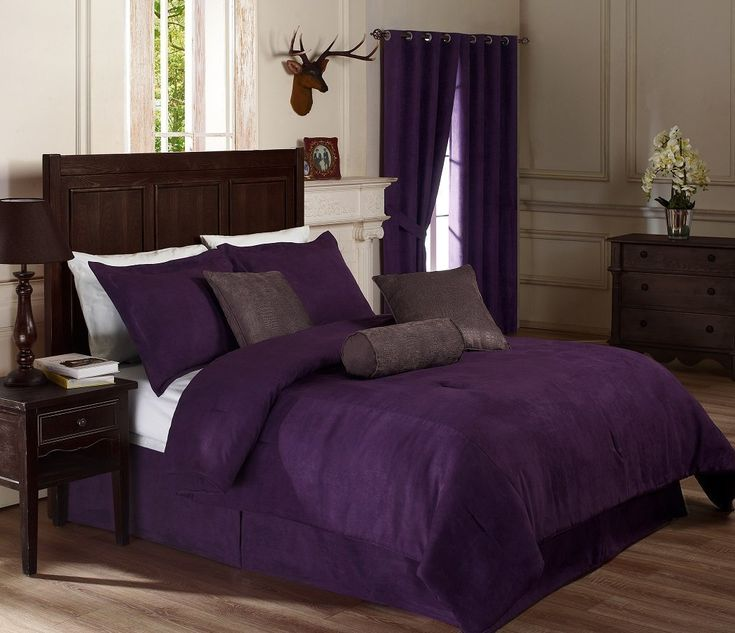 Dark Purple Comforter Sets Queen Queen Size Bedscrocodilescomforter