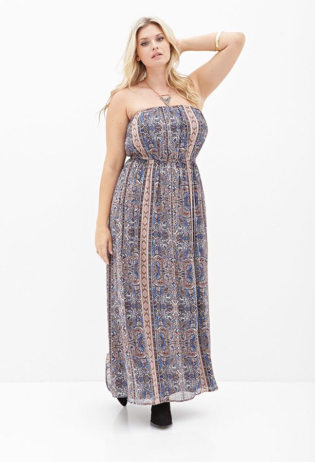 Plus Size FOREVER 21+ Ornate Paisley Maxi Dress