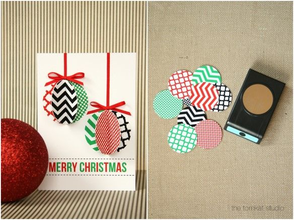 @ Ashlea Mayo, now we know what to do with all those circles we stole! Christmas card tutorial.