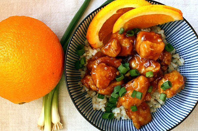 Chinese Orange Chicken by localkitchenblog. I dont eat meat, but orange chicken