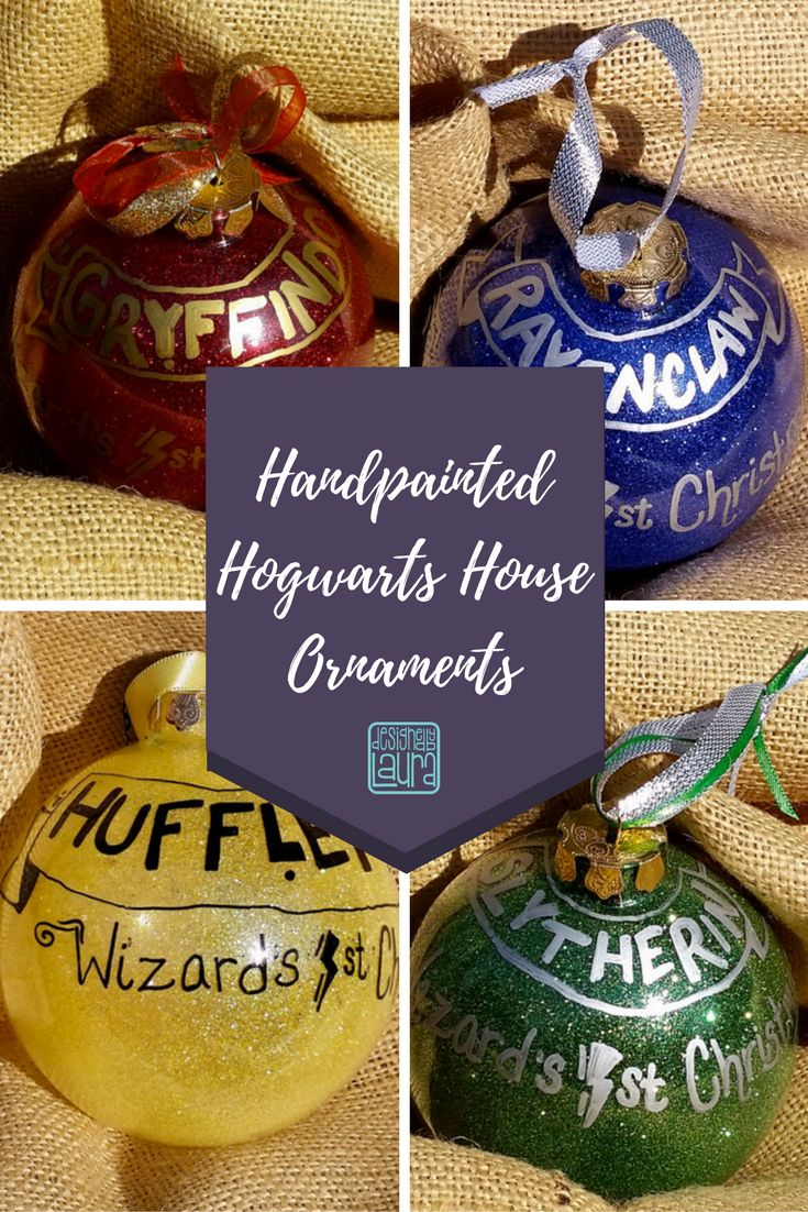 Handpainted glass ornaments for the next generation of Harry Potter fans! Perfect for your little witch or wizard's first Christmas!