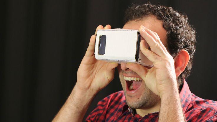Com apenas um molde de papelão, construa um incrível óculos de realidade virtual (o Google Cardboard) para usar com o seu celular Android!