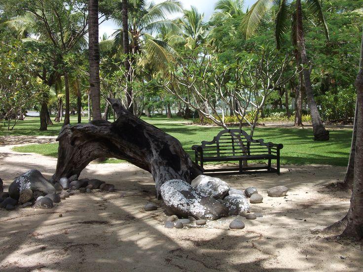 #Travel: Gardens at #Sonaisali Island Resort, #Fiji.  Captain James Cook came to Fiji in 1755.  Photo Credit: Dawne Rudman