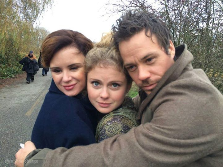 Keegan Connor Tracy, rose Mciver, and Michael Ramon James selfie