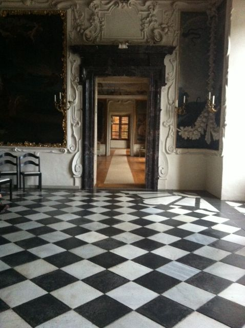 This Checkered Tiled Floor Was Commen In The Black And