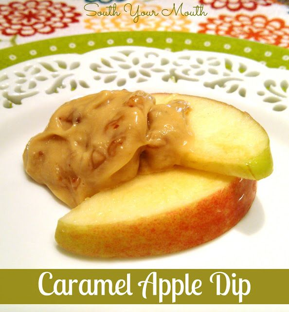 Caramel Apple Dip!  INSANELY DELICIOUS!!!  Cream cheese, caramel dip and toffee bits... STOP IT!!!