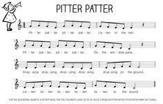 Let's Play Music : Free Sheet Music (tune) Pitter Patter Rain Song - free resource section of Let's Play Music - loads of sheet music for nursery rhymes and music theory printables.