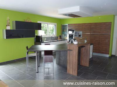 cuisine aspect façade mat aspect façade brillant design moderne