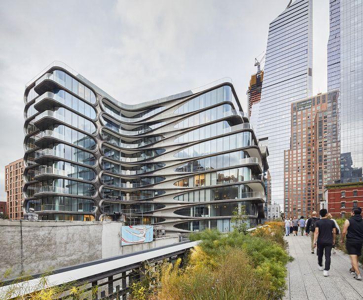 New images capture zaha hadids luxury high line condos in nyc