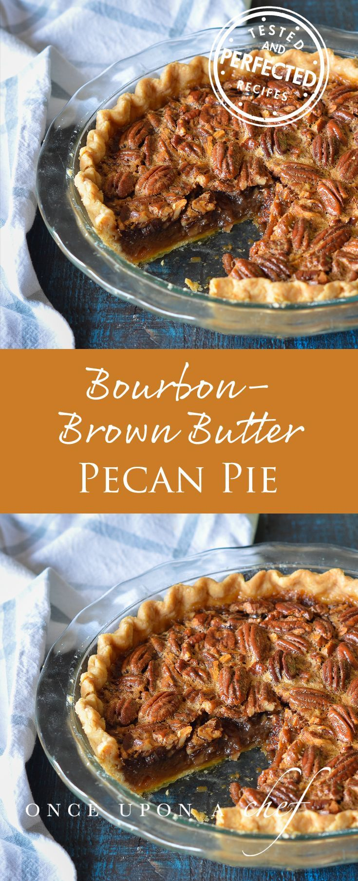 Bourbon-Brown Butter Pecan Pie #pecanpie #dessertrecipe #thanksgiving