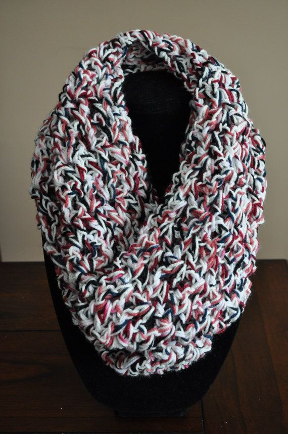 FOR SALE $25 https://www.etsy.com/ca/listing/176455961/sale-infinity-scarf-multicolour-pink-red?ref=listing-shop-header-0