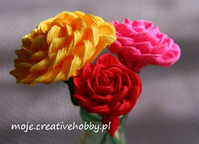 Tak wyglądają kwiatki wykonane metodą cukierkową.