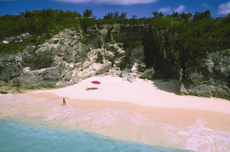 Honeymoon!  pink sands of   Bermuda