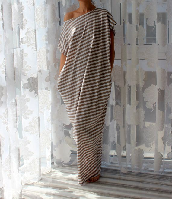 Hey, I found this really awesome Etsy listing at https://www.etsy.com/listing/180983005/white-and-beige-stripes-cotton-long