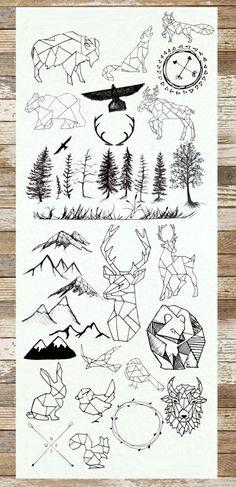 Cool idées et designs des tatouages géométriques