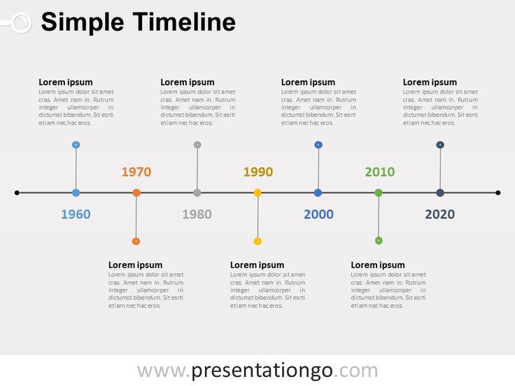 free editable simple timeline powerpoint diagram powerpoint diagrams pinterest simple. Black Bedroom Furniture Sets. Home Design Ideas