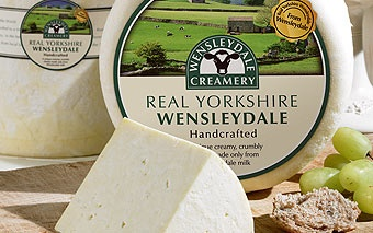 Real Yorkshire Wensleydale Cheese Truckle from the Wensleydale Creamery, a wonderful place to visit, fascinating and heart warming story of how the creamery has survived and thrived, and they are very generous with the cheese tasting!