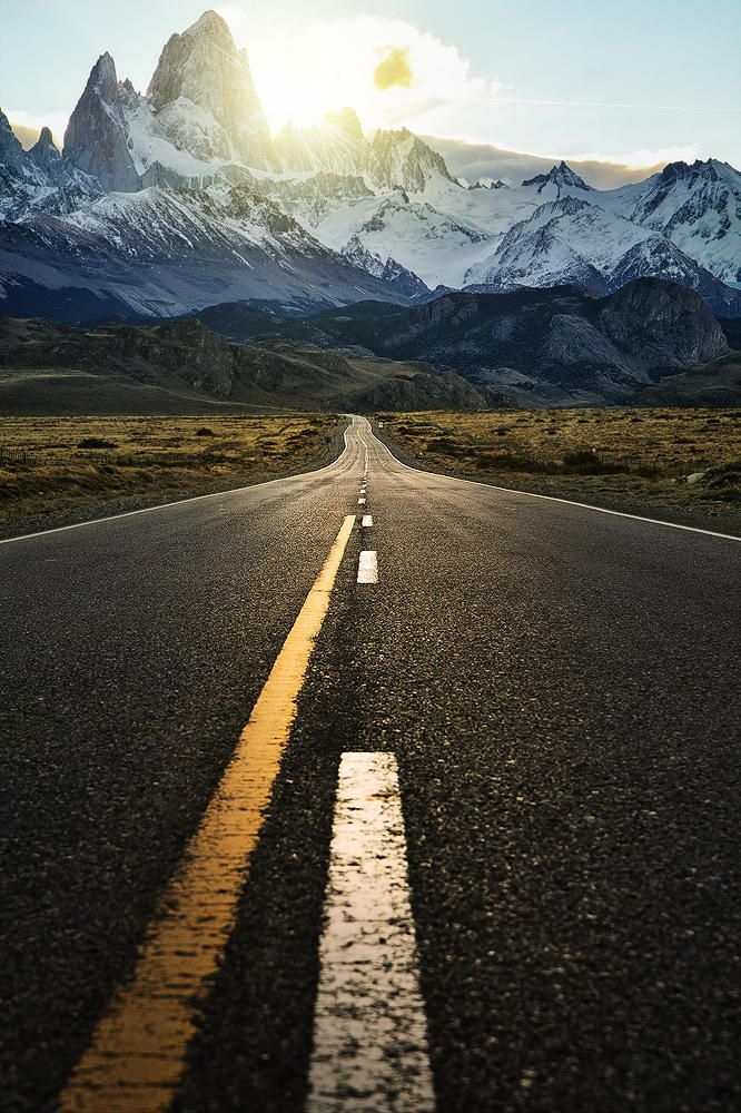 The Road to Fitzroy by Jimmy Mcintyre on 500px - pavement, scenery, landscape, color and contrast - landscape photography