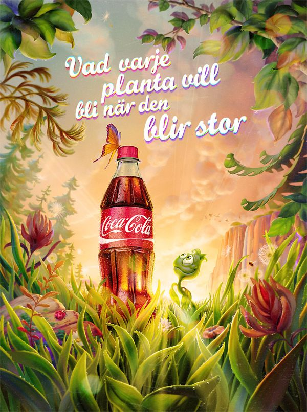 Plant Bottle/Coca-Cola by Oscar Ramos, via Behance