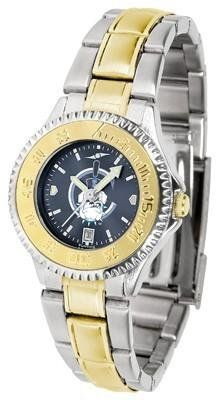 Citadel Bulldogs Competitor AnoChrome Ladies Watch with Two-Tone Band by SunTime. $94.95. Two-Tone Stainless Steel. Links Make Watch Adjustable. Women. Water Resistant. Officially Licensed The Citadel Bulldogs Ladies Stainless Steel and Gold Tone Watch. The ultimate NCAA fan's statement, this Citadel Bulldogs Competitor Two-Tone timepiece offers women a classic, business-appropriate look. Features a 23kt gold-plated bezel, stainless steel case and date function. Secures to ...