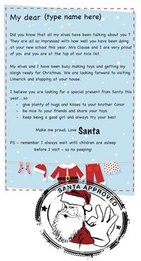 """Free customisable Santa Letter templates """"you've made the nice list'"""