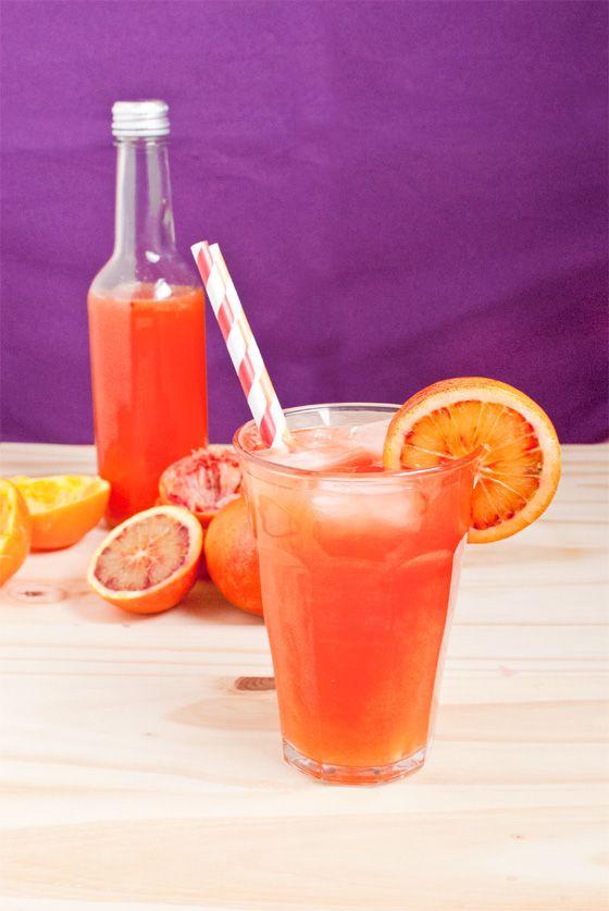 Orangeade espagnole (orange sanguine, fleur d'oranger) - StellA Cuisine