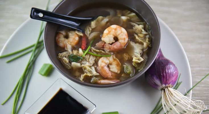 Zuppa cinese di gamberetti
