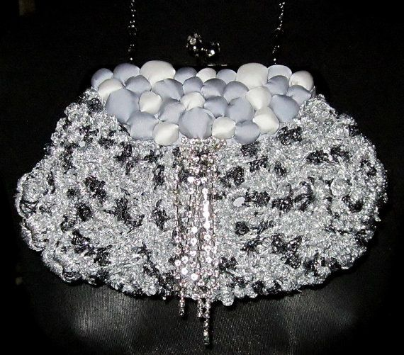 Evening handbag wedding purse decorated with by handmadestreet101