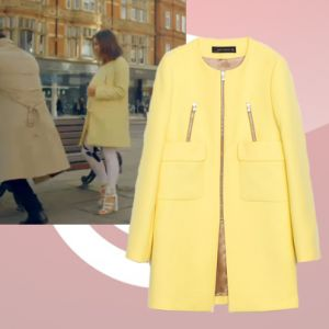 Where did Louise Thompson get her yellow coat from on Made in Chelsea 28/04/14? - Style on Screen