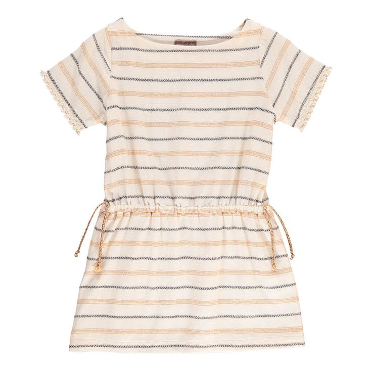Emile et Ida Lurex Bow Striped Dress-product