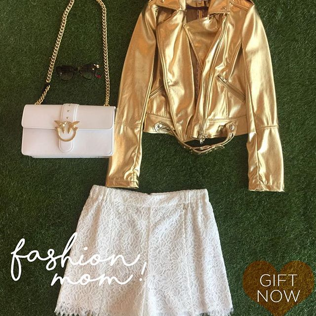 Fashion Mom #gift #mom #festadellamamma #fashion #fashionpic #ootd #giftideas #shop #shoppingonline www.coloradofashionshopping.it #musthave #pinko #patriziapepe #istapic #picoftheday #outfitideas #gold #white #fashionblog #fashionblogger #bags #pants #jacket #style #newlook #love #glam