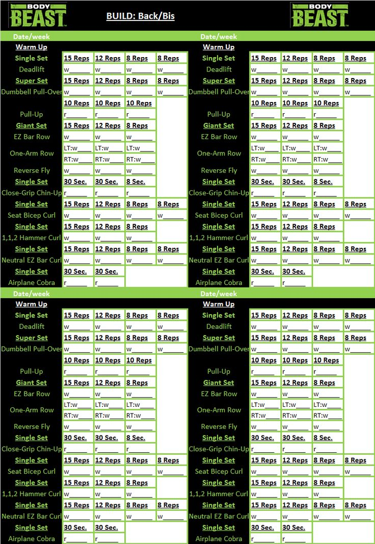 21 best Body Beast images on Pinterest Body beast, Bodies and - beast workout sheet